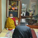 仏壇移動のためのお勤め