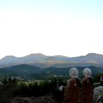 般若寺から秋の霧島連山を望む
