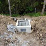 排水路の工事中