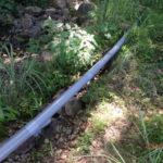 水路配管補修の様子