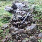 山水路補修の様子