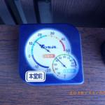 本堂内の気温(午後)