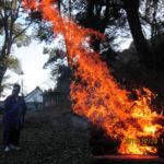 護摩焚き供養の様子