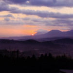 霧島連山の初日の出
