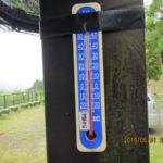 涅槃池前の気温